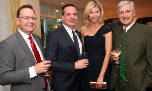 From left, Yves Laberge, general manager of Star Motors, with Andrej Droba, ambassador of the Embassy of the Slovak Republic, and his wife, Daniela, along with long-time supporter Roland Pirker at a reception hosted by the Austrian ambassador at his official residence in Rockcliffe on Wednesday, October 18, 2017, for patrons of the upcoming Viennese Winter Ball. Photo by Caroline Phillips