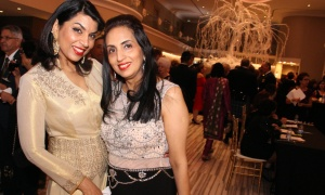 From left, Harleen Bhandari with Monica Channa, executive director of operations with Akran Marketing,  at the Dhadkan 2017: Midas Touch fundraiser for the Ottawa Regional Cancer Foundation, hosted by and at the Infinity Convention Centre on Friday, November 17, 2017. Photo by Caroline Phillips