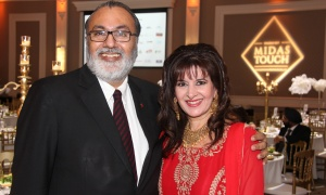 Lawyer Daljit Nirman with Nargis Schutte, a private banker with RBC, at the Dhadkan 2017: Midas Touch fundraiser for the Ottawa Regional Cancer Foundation, hosted by and at the Infinity Convention Centre on Friday, November 17, 2017. Photo by Caroline Phillips