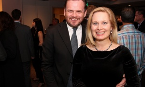 Ottawa lawyer Russell Gibson with his wife, Victoria Lehman, regional controller at Le Cordon Bleu Ottawa, at the 7th Annual Share Party, held at Andaz hotel in the ByWard Market on Friday, November 3, 2017. Photo by Caroline Phillips