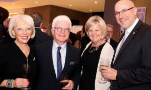 From left, former Negev Dinner honouree Barbara Farber (2016) with her husband, Len Farber, and Shelley Crawford and Mitchell Bellman, current president and CEO of the Royal Ottawa Foundation for Mental Health (and former CEO of the Jewish Federation of Ottawa), at this year's dinner, held at the Infinity Convention Centre on Monday, November 6, 2017. Photo by Caroline Phillips