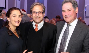 Jenny Freeman with Bob Viner, from Viner Assets, and Lawrence Soloway, business lawyer at Soloway Wright, at the 2017 Negev Dinner held at the Infinity Convention Centre on Monday, November 6, 2017. Photo by Caroline Phillips