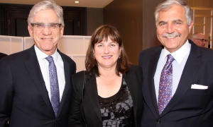 From left, Dr. Harley Stern, former Negev Dinner honouree (2005) with Alison Hindo and Paul Hindo at this year's dinner, held at the Infinity Convention Centre on Monday, November 6, 2017. Photo by Caroline Phillips