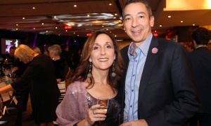 "Lawyer Danny Fernandes and his wife, Sandra Guttmann, also a lawyer, at Habitat for Humanity Greater Ottawa's Steel Toes and Stilettos ""Full Moon"" Gala, held at the Shaw Centre on Saturday, November 4, 2017. Photo by Caroline Phillips"