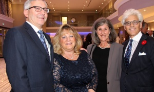 From left, Ian Sherman, Ernst & Young (EY), with his wife, Randi, and Dr. Donna Shore and Jacques Shore, a partner at Gowling WLG, at the Jewish National Fund of Ottawa's Negev Dinner. Photo by Caroline Phillips