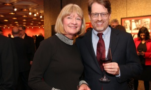 Shelley Ambrose, publisher of The Walrus, with Graham Flack, deputy minister of Canadian Heritage, at the National Arts Centre on Thursday, March 1, 2018.