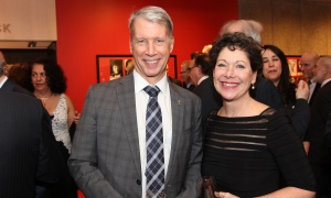 Andrew Leslie, Liberal MP for Orléans, with Elizabeth Roscoe, a senior vice president with ‎H+K Strategies Canada,  at the National Arts Centre on Thursday, March 1, 2018