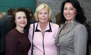 From left, Ottawa businesswoman Susan St. Amand with female trailblazer Shirley Westeinde, chair of Westeinde Group, and Jamilah Taib Murray, chair of Sakto Corporation, at the International Women's Day breakfast reception hosted by Mayor Jim Watson at Ottawa City Hall. Photo by Caroline Phillips