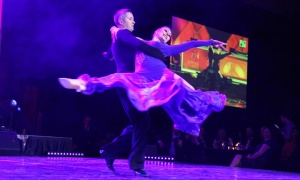 Arthur Murray Dance Ottawa franchisees and co-owners Vadim Safonov and Alina Safonova perform at the 2018 Dancing with the Docs. Photo by Caroline Phillips