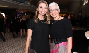 Former Businesswoman of the Year Award recipient Deborah Bourchier, managing partner of sponsor GGFL, with her daughter, Jill Bourchier (who's currently enrolled in the CPA Canada Preparatory Program), at the Businesswoman of the Year Awards Gala, held Thursday, April 19, 2018. Photo by Caroline Phillips