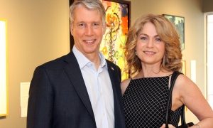 Oléans Liberal MP Andrew Leslie with Paris Jefferson at the Ottawa Art Gallery's opening gala, held Friday, April 27, 2018. Photo by Caroline Phillips
