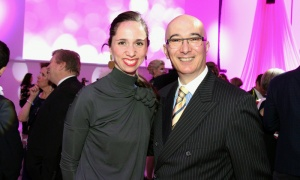 Marie Pier Germain with Alex Kassatly, general manager of the Le Germain Hotel, at the opening gala for its neighbour, the Ottawa Art Gallery. Photo by Caroline Phillips