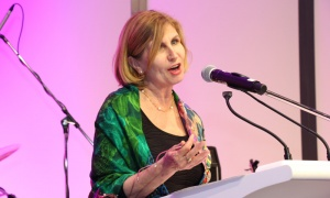 Liberal Ottawa-Vanier MPP Nathalie Des Rosiers  at the Ottawa Art Gallery's opening gala, held Friday, April 27, 2018. Photo by Caroline Phillips