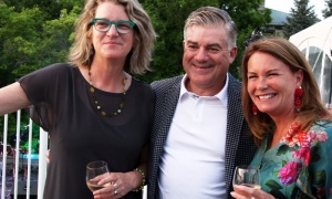 From left, Kate Faughnan with first-time attendees Jeff York, co-CEO of Farm Boy, and his wife, Joanne York, at this year's Ottawa Riverkeeper Gala, held at 50 Sussex on Wednesday, May 30, 2018. Photo by Caroline Phillips