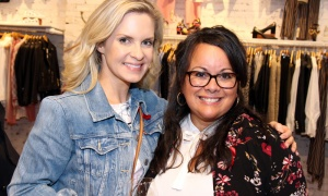 From left, Joanna Tymkiw with FemCity president and founder Nathalie Martin at the CANFAR Byward Social, held at Schad boutique on Tuesday, May 1, 2018. Photo by Caroline Phillips