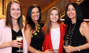 From left, Tara-Leigh Mierins with Nadine Sabine, Brooke Mierins and her mom, Arlie Koyman, at the CANFAR Byward Social held at Schad boutique. Photo by Caroline Phillips