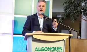 Deputy Mark Taylor at Algonquin College's 50th anniversary gala. Photo by Caroline Phillips