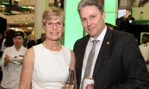 Jeff Darwin with his wife, Wendy, at Algonquin College' 50th anniversary gala, held Thursday, May 3, 2018. Photo by Caroline Phillips