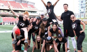 The Redblacks Women's Training Camp attracted a sold-out crowd of 360 to TD Place Stadium on Tuesday, June 12, 2018. Photo by Caroline Phillips