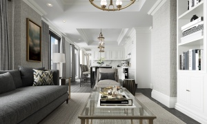 A rendering of the interior of a unit at 1451 Wellington. (Mizrahi Developments)