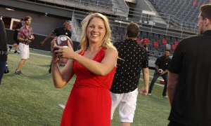 Mackenzie Buchanan at the inaugural Gourmet on the Gridiron, held at TD Place Stadium on Friday, August 24, 2018. Photo by Caroline Phillips