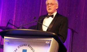 Dr. Fraser Scott, recipient of the Grimes Career Achievement Award, at The Ottawa Hospital Gala, held at The Westin hotel on Saturday, Oct. 27, 2018. Photo by Caroline Phillips