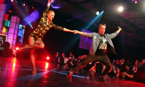 Dr. Glenn Posner with dance partner Kamila Lichvarova in the Dancing with the Docs competition, held during a gala dinner at the Hilton Lac-Leamy on Saturday, April 6, 2019, in support of patient care and research at The Ottawa Hospital. Photo by Caroline Phillips