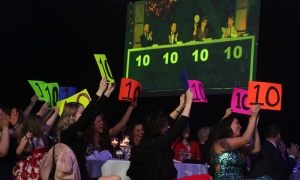 Fans show their support for Drs. Arleigh McCurdy and Natasha Kekre at the 5th annual Dancing with the Docs dance competition, held at the Hilton Lac-Leamy. Photo by Caroline Phillips