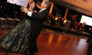Franklin Holtforster, president of Colliers Project Leaders, with his wife, Birgitte Alting-Mees on the dance floor at the Viennese Winter Ball, held at the Shaw Centre on Saturday, February 29, 2020. Photo by Caroline Phillips