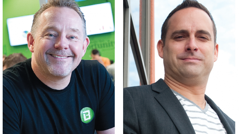 Left: Steve Cody, The Better Software Company. Right: Tyler Eyamie, Fusebill.