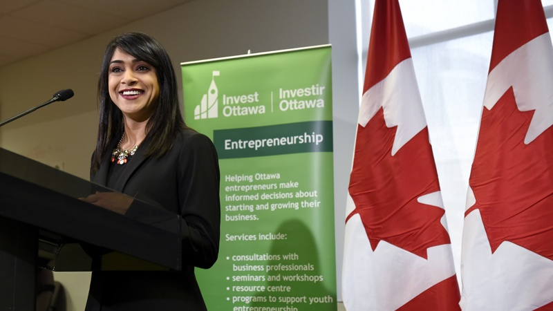 Minister Bardish Chagger makes announcement at Invest Ottawa