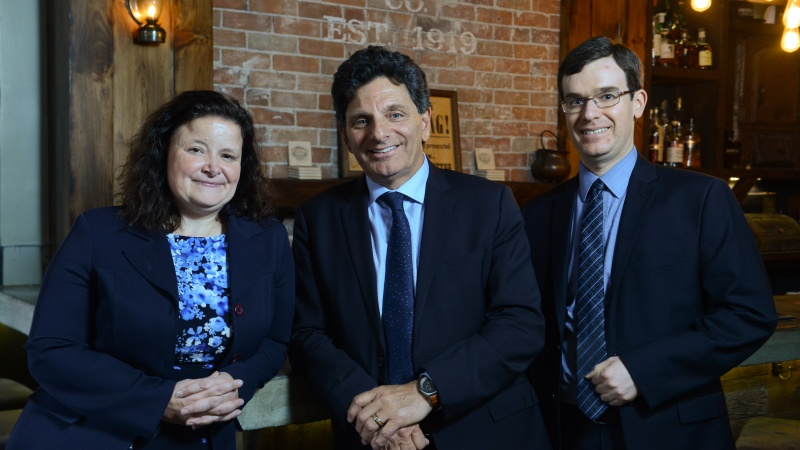 From left, Greenspon Granger Hill partners Tina Hill, Lawrence Greenspon and Eric Granger