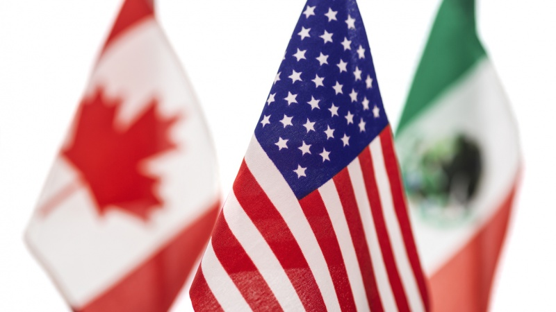 Canada U.S. Mexico flags