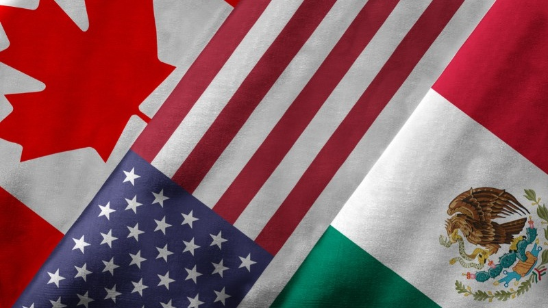 Canada-U.S.-Mexico flags