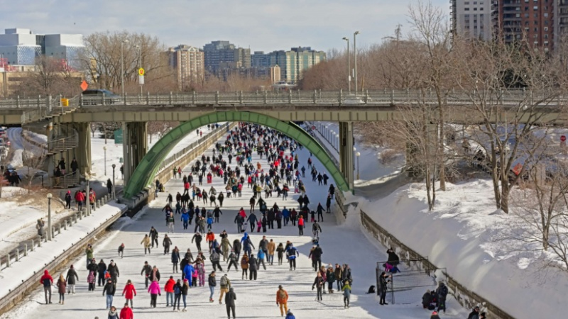 Winterlude canal pic