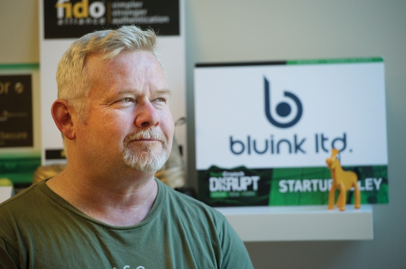 Bluink founder Steve Borza is looking to raise $2 million in new funding. (Photo by Mark Holleron)