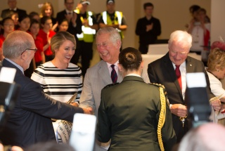 NAC ribbon-cutting ceremony with Prince Charles