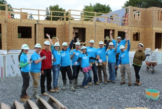 The MNP team at a Habitat GO build day