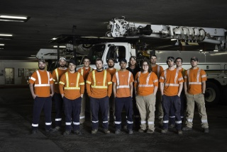 A team of Hydro Ottawa technicians